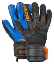 Reusch Keeperhanske FreeGel S1 Finger Support Attrakt - Sort/Oransje/Navy Barn