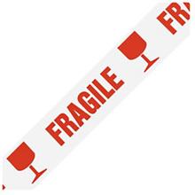 Low-noise PP Warnband mit Standardaufdruck ''Fragile'' RAJA