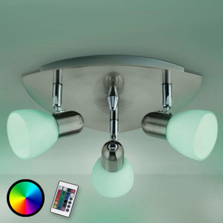 Taklampa Enea-C LED RGBW, tre ljuskällor