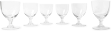 Set Of Six Crystal Wine Glasses - Clear