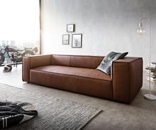 DELIFE Big-sofa Around the Block 260x105 bruin echt leder vederkern by W. Schillig