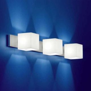 vegglampe CUBE med blendingsbeskyttelse 3 lys