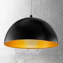 Tvåfärgad taklampa Dingle svart-guld