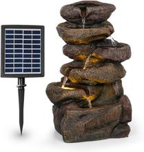 Savona soldriven fontän 2,8 W polyresin 5h batteri LEDs stenoptik