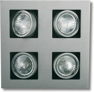 Kvadr. LED-Inbyggnadslampa Multi 4 ljuskällor