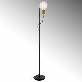 Elegant golvlampa Regal svart mässing