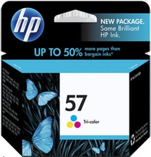 HP 57 C (C6657GE) med chip, trefärgad bläckpatron, Original, 4,5 ml