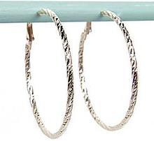 Daisy Faceted 5.5cm Hoop Earrings
