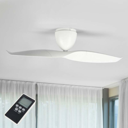 Hvid loftsventilator Wave 109,2 cm