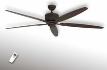 Loftslampen Eco Elements med fem vinger, brun