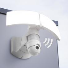 LED-utomhusvägglampa Libra Cam med kamera