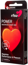 RFSU Power Boost Condoms 8-Pack Intim Transparent