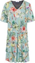 Jerseyklänning V-ringning från Peter Hahn mångfärgad