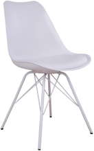 Comfort - Schalenstuhl, Weiß mit weißen Beinen