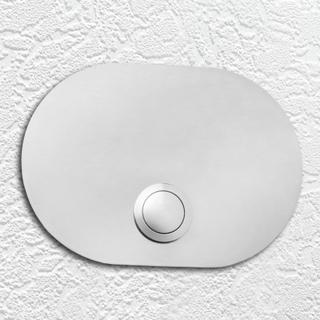 Platta för ringklocka, rostfritt stål, Oval