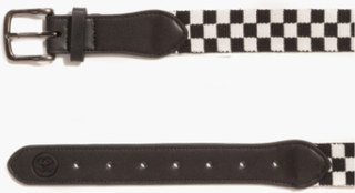 Stussy - Checker Belt - Svart - ONE SIZE