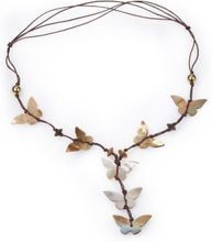 Halsband fjärilar musslor från Peter Hahn brun