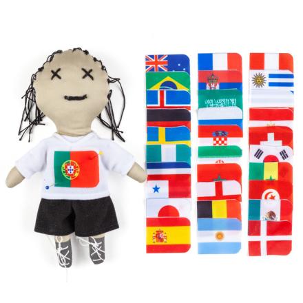 Voodoo-nukke lipuilla