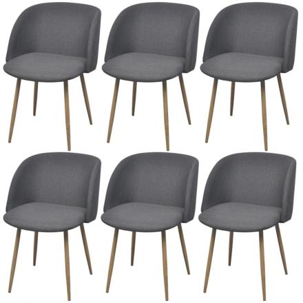 vidaXL spisebordsstole 6 stk. mørkegrå