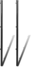 vidaXL hegnspæle til fletvævshegn 2 stk. 150 cm