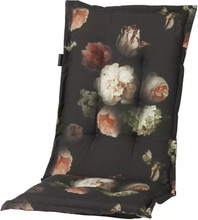 Madison Stolsdyna med hög rygg Dark Flower 123x50 cm PHOSF323