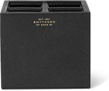 Grosvenor Full-grain Leather Pen Pot - Black