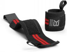 Better Bodies Elastic Wrist Wraps, black/red, Better Bodies Knä & Handledslindor