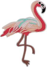Tropisk Flamingo - 14 cm Strykemerke