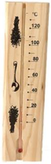 Bastutermometer i trä med vätskegradering