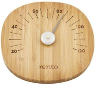 Rento Bastutermometer,mörk bambu