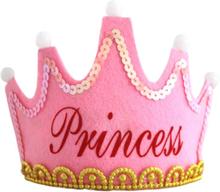 3-läge Led-glödlampakrona Med Grattis På Födelsedagen B-pink