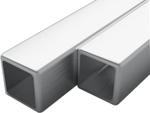 vidaXL Fyrkantsrör rostfritt stål 2 st V2A 1m 15mm