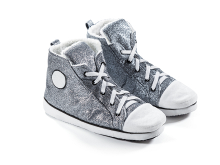 Sneaker Slippers Glitter Silver 37-40