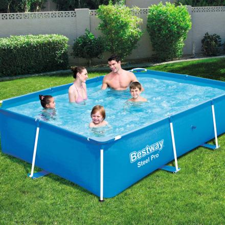 Bestway Steel Pro swimmingpool med stålstel 259 x 170 x 61 cm 56403