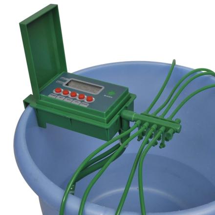vidaXL Automatiskt bevattningssystem med vattenspridare och timer