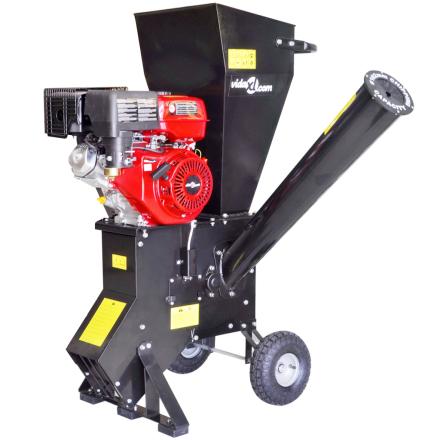 vidaXL benzindrevet flishugger med 15 HK-motor