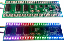 24 LED Dual Channel Signal RGB MCU Adjustable Display Pattern LED VU Meter LED Level Indicator F Amplifier Thickness 12.5mm