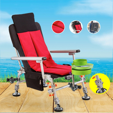 Beach With Portable Folding Chairs Outdoor Picnic Seat Oxford Cloth Lightweight Seat for Fishing Camping Cushion four seasons