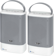 AEG Bluetooth-højtalere BSS 4833 2 dele hvid og grå