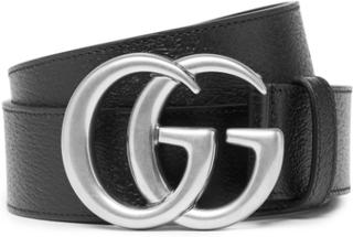 4cm Full-grain Leather Belt - Black