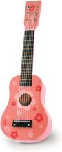 Vilac Guitar - Lyserød dekoreret med blomster