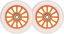 Hvid PU Hjul til Trick Løbehjul - 2 stk. sæt