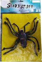 Halloween udsmykning - Kæmpe edderkop med sugekopper