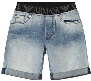 Emporio Armani Denim Shorts Blå 4 years