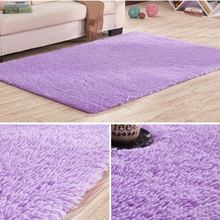 Teppich in Lila flockig rutschfest Bodenmatte mit 3 Größen flaumig Vorleger für Speisezimmer Haus Schlafzimmer