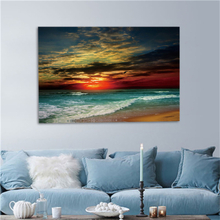 Framed Home Decor Gerahmter Leinwand-Druck Modern Wall Art Seascape Beach Bild