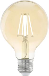 EGLO Vintage Stil LED Pære E27 G80 Rav 11556