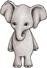 Stickstay Wallstickers Elefanten Eve