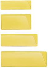 Etikettenhalter in Gelb, selbstklebend, 30 x 100 mm
