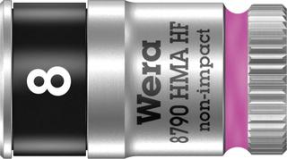 Wera 8790 HMA 05003723001 Udvendig sekskant Topnøgleindsats 8 mm 1/4 (6,3 mm)